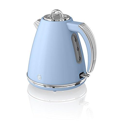 Swan 1.5L Jug Kettle-Blue HERVIDOR DE AGUA, 3000 W, 1.5 litros, Acero Inoxidable, Azul