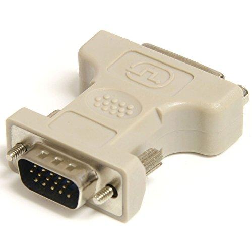 StarTech.com DVIVGAFM - Adaptador Conversor para Monitor de Ordenador DVI-I a VGA - DVI-I Hembra - HD15 Macho - Blanco, Beige