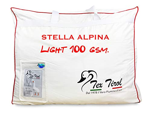 Piumino Tex Tirol  Stella Alpina Light 100% Piumino Oca Leggero Estivo Matrimoniale