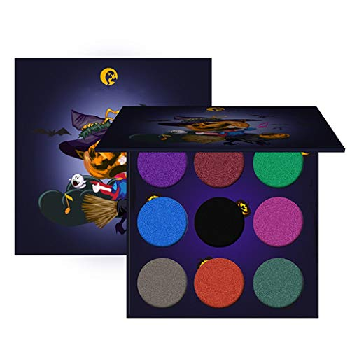Eye shadow, Halloween Makeup Glitter Highly Pigmented Shimmer Bright Professional Long lasting Super Value Palettes, Halloween Party Christmas Face Body Makeup Paints (Colorful)