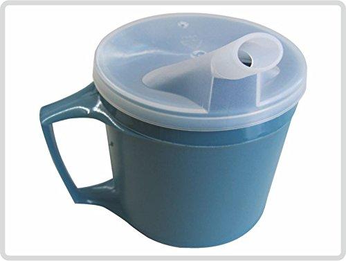 Thermo-Trinkbecher Schnabelbecher Krankentasse Schnabeltasse mit Griff und abnehmbaren Trinkaufsatz *Top-Qualität zum Top-Preis*