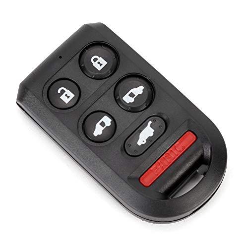 5+1 botones coche mando a distancia llavero caso cubierta reemplazo accesorio negro ajuste para Honda Odyssey