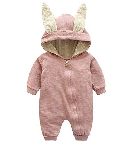 Dehots Baby Kleidung Jungen Mädchen Strampler Overall Jumpsuit Kleinkind Bodysuits Outfits Einteiler Jacke 0-18 Monate Neugeborenen Schlafstrampler Säugling