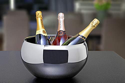 Philippi Nizza Secchiello per Champagne, Acciaio Inox, Argento, 30 cm