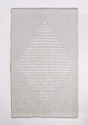 FAB HAB Alfombra para Interiores y Exteriores - Reversible, Tejida a Mano, Suave - Denver - Gray (60 cm x 90 cm)
