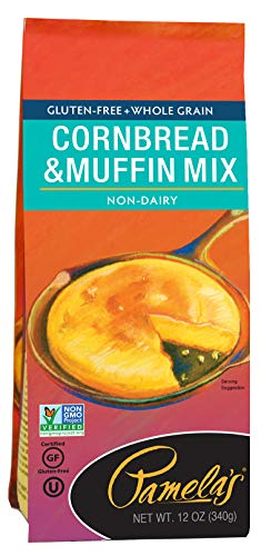 Pamela's Products Gluten Free Cornbread & Muffin Mix , 12 Ounce Bags (Pack of 6)