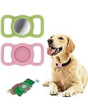 2 Stycken Silikonskyddsfodral för Airtags,Woffoly Lättviktig Hållare för GPS-spårning av Husdjur,Anti-repa Anti-förlorade Täckskydd Kompatibel med Luftmärken för Hundkattkrage,Skolväska