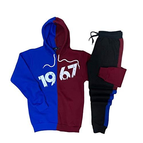 YSN Home Collection Kapuzenpullover + Jogginghose Trabzonspor TS Pullover Hoodie Trainingsanzug Jogginganzug - 100% Baumwolle (S)