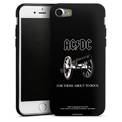 DeinDesign Silikon Hülle kompatibel mit Apple iPhone 7 Hülle schwarz Handyhülle ACDC Rock Fanartikel
