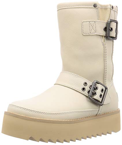 UGG Damen Boots Classic Rebel Biker Short 1106913 Bone 39