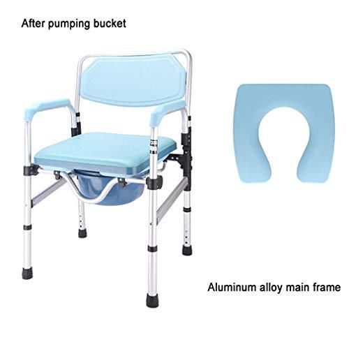 AGWa Klappbarer Toilettenstuhl mit rutschfester Rückenlehne, behindertengerechter Toilettensitz, höhenverstellbar, ergonomische Form für mehr Komfort, 607C,607c