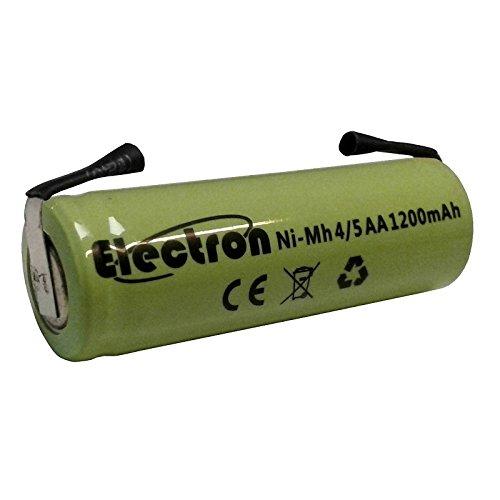 Batteria ricaricabile Ni-Mh 4/5AA 4/5 AA 1,2V 1200mAh 42x14mm con lamelle linguette terminali a saldare per pacco pacchi batteria