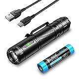 WUBEN C3 Torcia a LED ultra luminosa, USB C, ricaricabile, 1200 lumen, IP68, impermeabile, con 6 modalità tattica, piccola torcia tattica, per campeggio, escursioni, emergenze