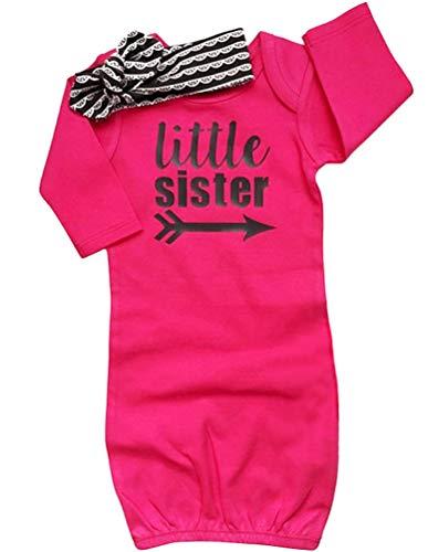 COLOOM - Juego de ropa para bebé recién nacida para llevar a casa (pequeña hermana #1, 0-6 meses)