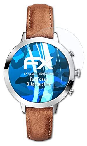 atFoliX Schutzfolie kompatibel mit Fossil Q Jacqueline Folie, ultraklare FX Bildschirmschutzfolie (3X)