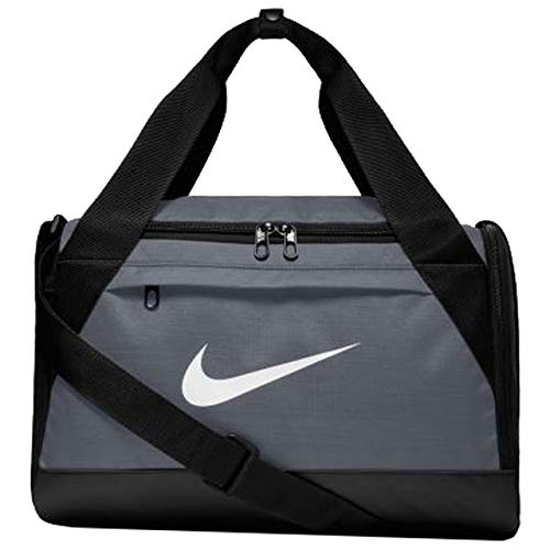 Nike Brasilia Training Duffel Bag, XS - Flint Grey/ Black/ White, 16