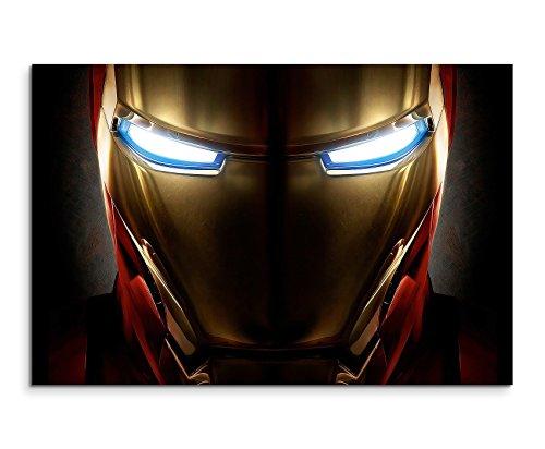 Iron Man Helmet Wandbild 120x80cm XXL Bilder und Kunstdrucke auf Leinwand