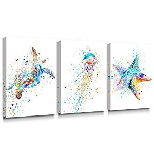 Adecuado Contemporary Wall Art Coastal Canvas Pain...