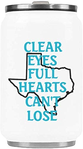 Funny Gift Mug Clear Eyes full hearts can't lose Stainless Steel Vacuum Cup Travel Coffee Mug 10.3 Ounce