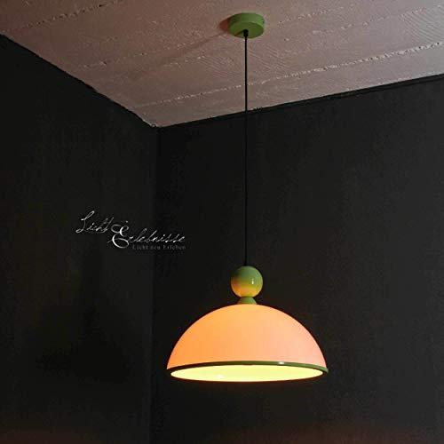 Zeitlose Hängeleuchte in Grün Weiß 1x E27 bis zu 60 Watt 230V aus Kunststoff & Metall Küche Esszimmer Pendelleuchte Hängelampe Pendellampe Beleuchtung innen