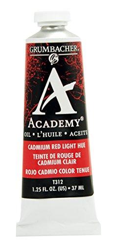 Grumbacher Academy Oil Paint, 37 ml/1.25 oz, Cadmium Red Light Hue