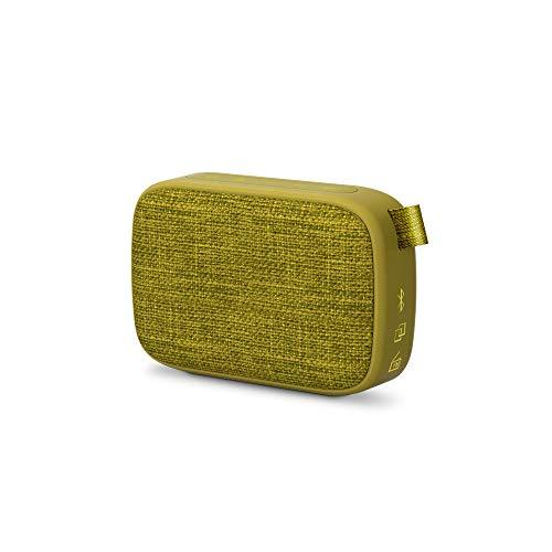 Energy Sistem Fabric Box 1+ Pocket Kiwi Altavoz portátil con Bluetooth (TWS, Bluetooth v5.0, 3W, USB&microSD MP3 Player, FM Radio) Verde