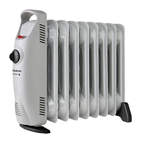Taurus Masai 1000 W-Radiador de Aceite de 9 Elementos. 1000W. Diseño Compacto. Termostato Ajustable. Protección sobrecalentamiento. Bajo...