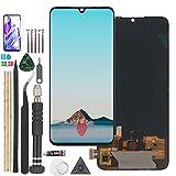 RongZy(OLED para Xiaomi Mi 9 Lite /CC9 M1904F3BG MZB8161EU LCD+Pantalla Táctil Digitalizador Asamblea Reemplazo +Reparación Herramientas(Negro con Sensor de Huella Dactilar)