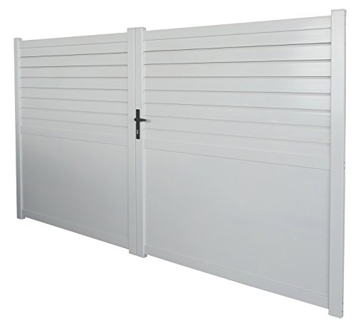 "Portail aluminium battant""Manchester"" 3m BLANC"