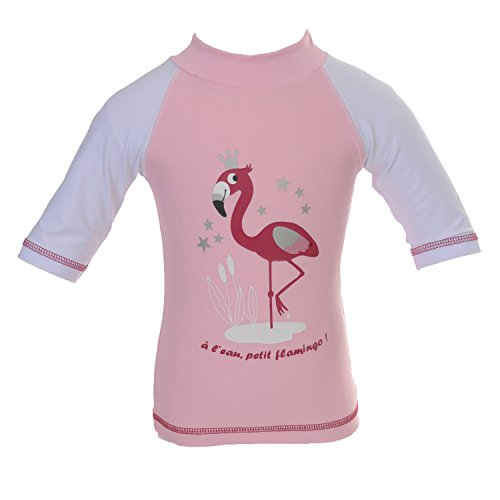 Piwapee–Top Lycra Anti UV UPF50+ Rosa Flamingo rosa Rose poudré 6-12M