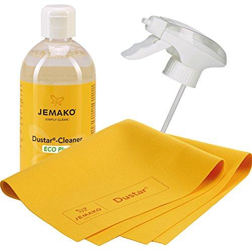 Jemako Dustar Cleaner Set, 500ml, inkl. Dustar Tuch 35 x 40 und Schaumpumpe