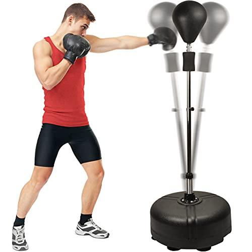Senshi Japan Freistehender Speed Stanzball Speedball Boxsack mit verstellbarer Höhe Freistehend- Für Training, Übung, Reaktion mit Stahlfedern