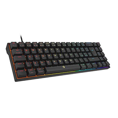 DREVO Calibur V2 Cherry MX Blu RGB 60% Tastiera Meccanica da Gaming, Layout Italiano Compatta 72 Tasti, Lavora su PC Mac, Cavo USB Type-C scollagabile, Nera