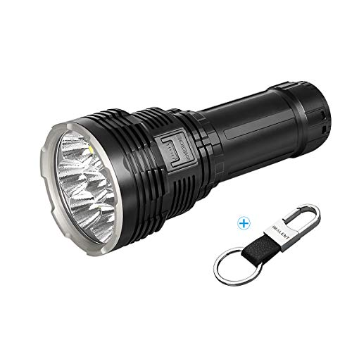IMALENT DX80 Powerful Flashlight 32000 Lumens,8pcs CREE XHP70.2 LEDs Super Bright Flashlights, Rechargeable Flood Torch Ultra Bright Tactical Flash Light Searchlight for Outdoor Camping Hiking