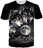 Loveternal Unisex Wolf T-Shirts 3D Druck Tee Shirt Casual Cool Tops Lustige Kurzarm T-stücke S