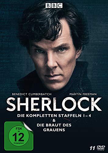 Sherlock - Die kompletten Staffeln 1-4 & Die Braut des Grauens (11 Discs)