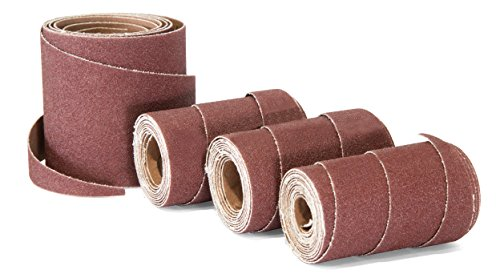 WEN 65910SP240 240-Grit 10-Inch Pre-Cut Ready-to-Wrap Drum Sander Sandpaper, 4-Pack