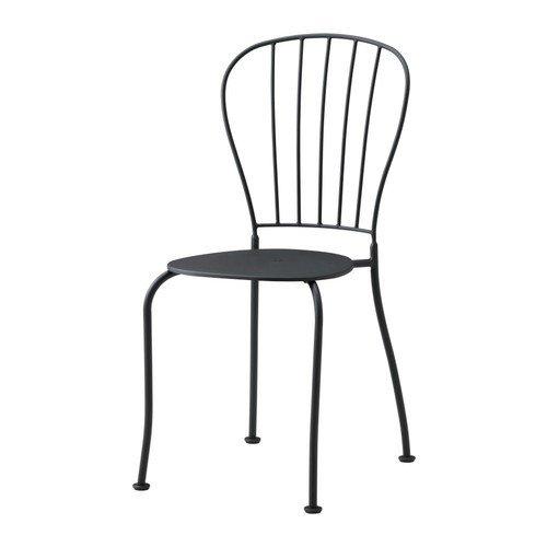 Ikea LÄCKÖ Stuhl für außen; in grau; stapelbar