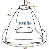 esafio Moskitonetz Bett, Groß Mückennetz inkl. Montagematerial,  Moskitoschutz Doppelbetten mit extra großem Spannring für Zuhause auch auf der Reise - 5