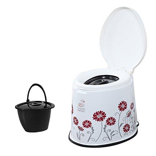MyAou-commode Portable Camp Toilette Portable Toilette Voyage Camping Randonnée Pique-Nique Festival en Plein Air (Couleur : Rouge)