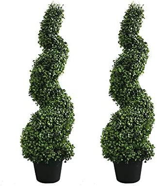 Armada Topiary Trees Artificial Faux Fakes Spiral Plant Green Cedar Tree Boxwood Topirary Plants product image