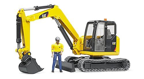 Bruder 2466 - Mini Escavadeira Caterpillar com Trabalhador
