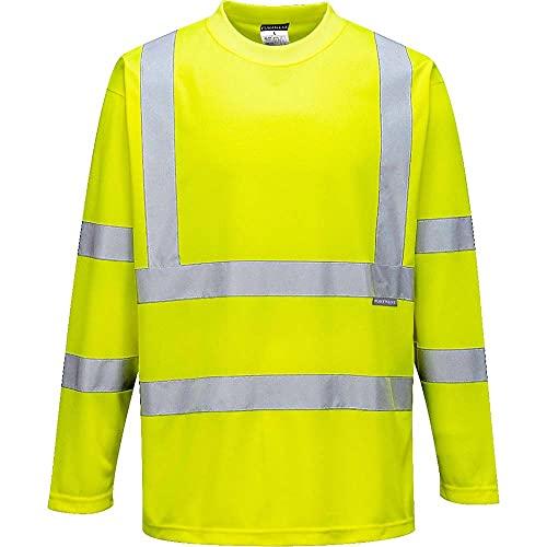 Portwest s178yerl Herren Hi-Vis Langarm T-Shirt, Regular, Größe Large, Gelb