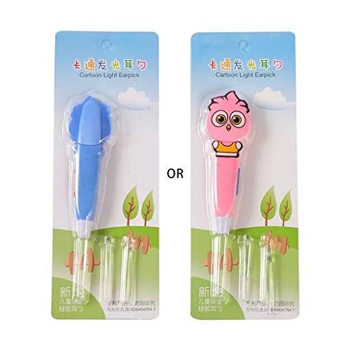 A0127 Cartoon Eule Leuchtende Earpick LED Licht Ohr Reinigungsl?ffel Baby Ohrenschmalz Entfernen Sicheres Werkzeug Kinder Pflege