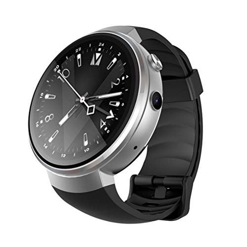 good01 Squisito Orologio da Polso Z28 1+16G GPS Tracker Camera 4G SIM Slot Pedometro Smart Watch per Android iOS, Silver