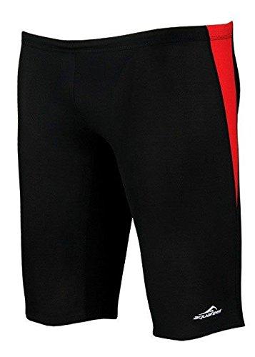 Aquafeel maat Fina, 152 rood, zwart, zwembroek, Fashy, zwembroek, kleur: rood