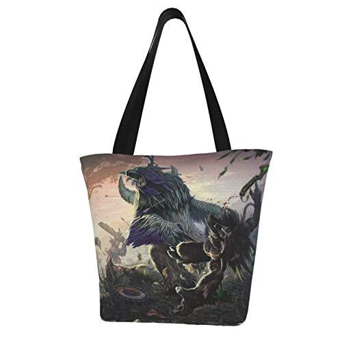 World Warcraft Bolsa de lona feminina Bolsas de Mão Bolsas de Ombro Bolsas de Praia Bolsa de Compras