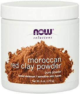Now Foods Red Clay Powder Moroccan - 6 oz. 4 Pack