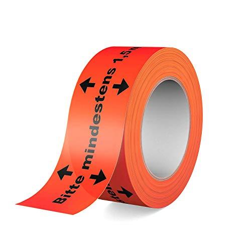 Gerband 404 - Warnband - Klebeband - Bitte mindestens 1,5m Abstand halten!