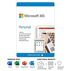 For 1 person Premium Office apps, including Word, Excel, PowerPoint, and Outlook 1 TB OneDrive cloud storage per person to back up files and photos Works on Windows, macOS, iOS, and Android (iOS and Android require separate app installation) Advance ...